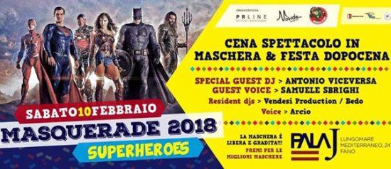 Masquerade 2018 – Superheroes al Pala J a Fano