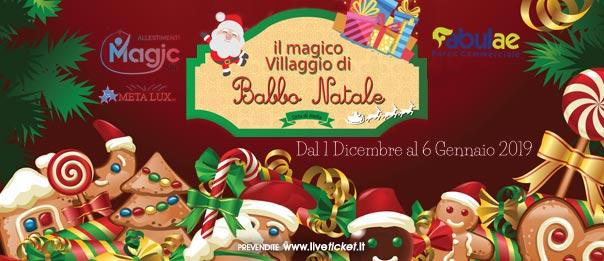 Il villaggio di Babbo Natale al Parco Commerciale Fabulae ad Orta di Atella