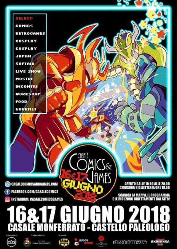 Casale Comics&Games 2018 al Castello Paleologo a Casale Monferrato
