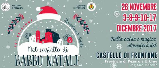 Nel Castello di Babbo Natale 2017 al Castello di Frontone