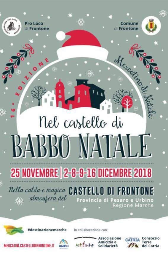 Nel Castello di Babbo Natale 2018 al Castello di Frontone
