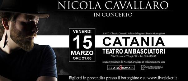 Nicola Cavallaro in concerto al Teatro Ambasciatori di Catania