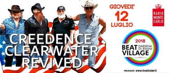 Creedence Clearwater Revived al Beat Village alla Nuova Darsena di Rimini