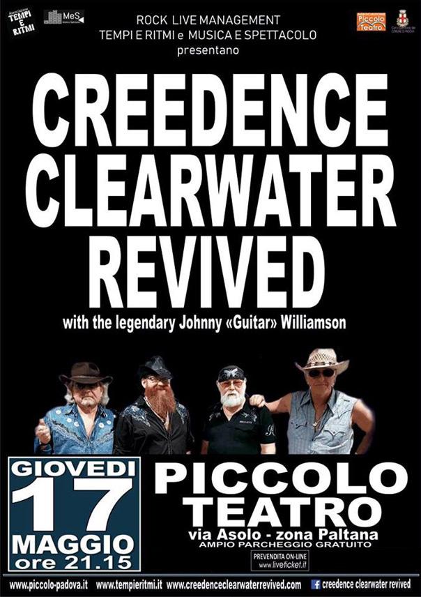 Creedence Clearwater Revived al Piccolo Teatro di Padova