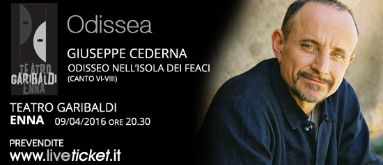 """Giuseppe Cederna in """"Odisseo nell'isola dei Feaci"""" al Teatro Garibaldi di Enna"""