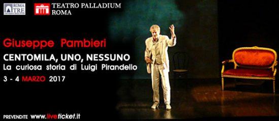 "Giuseppe Pambieri ""Centomila, uno, nessuno"" al Teatro Palladium a Roma"