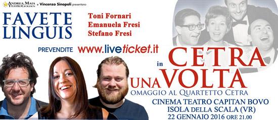 """""""Cetra una volta"""" al Cinema Teatro Capitan Bovo di Isola della Scala"""