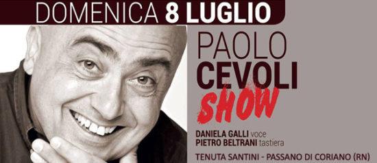 Paolo Cevoli show alla Tenuta Santini a Passano di Coriano