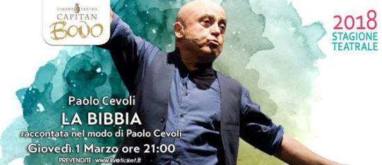 """Paolo Cevoli – """"La Bibbia"""" al Teatro Capitan Bovo di Isola della Scala"""