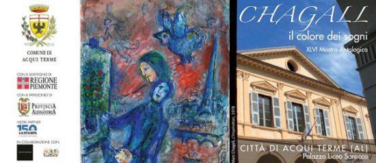 """Mostra Chagall """"Il colore dei sogni"""" al Palazzo Liceo Saracco ad Acqui Terme"""