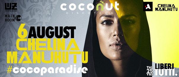 Cocoparadise - Chelina Manuhutu al Coconut di Capo d'Orlando