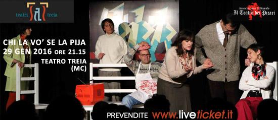 """Chi la vo' se la pija"" al Teatro Comunale di Treia"