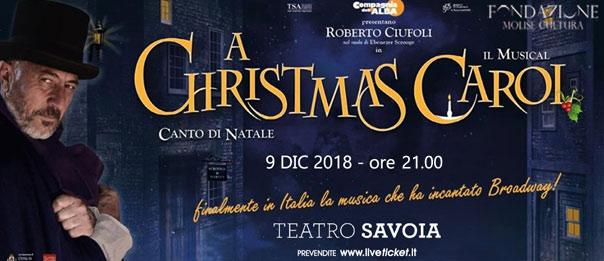 """Roberto Ciufoli """"A Christmas Carol"""" il musical al Teatro Savoia di Campobasso"""