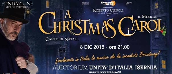 """Roberto Ciufoli """"A Christmas Carol"""" il musical all'Auditorium Unità d'Italia di Isernia"""