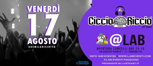 Ciccio Riccio in tour a LAB Eventi a Faggiano