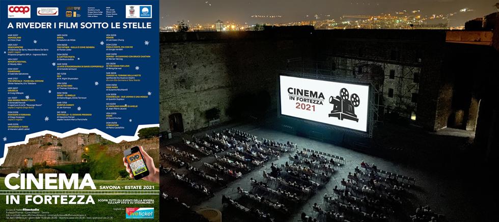 CINEMA IN FORTEZZA 2021 - A riveder i film sotto le stelle a Savona