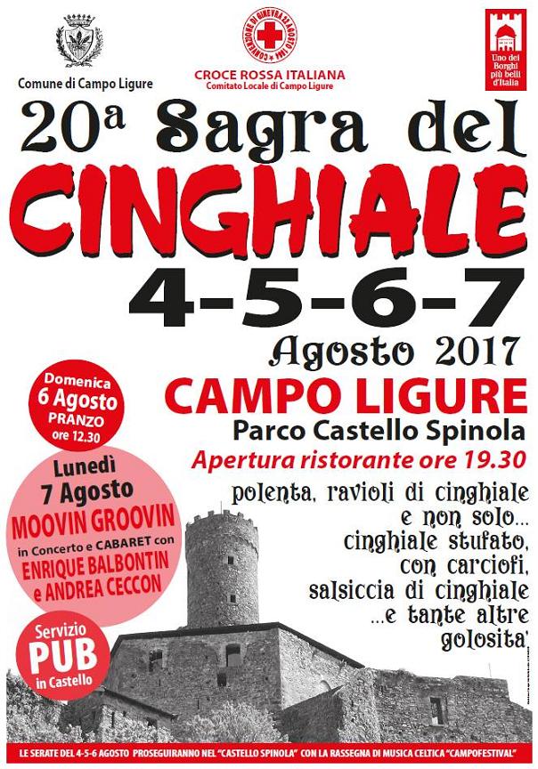 20^ Sagra del Cinghiale al Castello Spinola a Campo Ligure