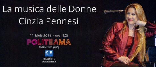 Cinzia Pennesi – La musica delle Donne al Politeama di Tolentino
