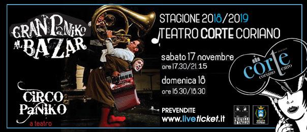 """Circo Paniko """"Gran Paniko al Bazar"""" al Teatro CorTe di Coriano"""