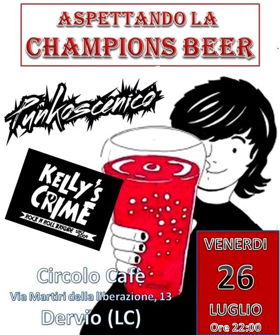 Preparazione alla Champion's With Kelly's Crime And Punkoscenico a Dervio