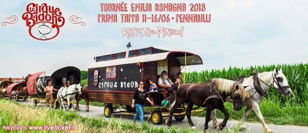 """Artisti in Piazza """"Circo Bidone"""" Turnée Romagna 2018 a Pennabilli"""