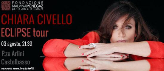 """Chiara Civello """"Eclipse Tour"""" in Piazza Arlini a Castelbasso"""