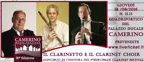 Il Clarinetto e il Clarinet Choir al Camerino Music Festival