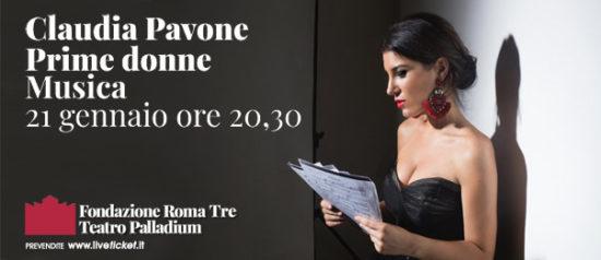 Prime Donne - Claudia Pavone a Glass al Teatro Palladium a Roma