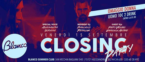 Closing party al Blanco Summer Club ad Alessandria