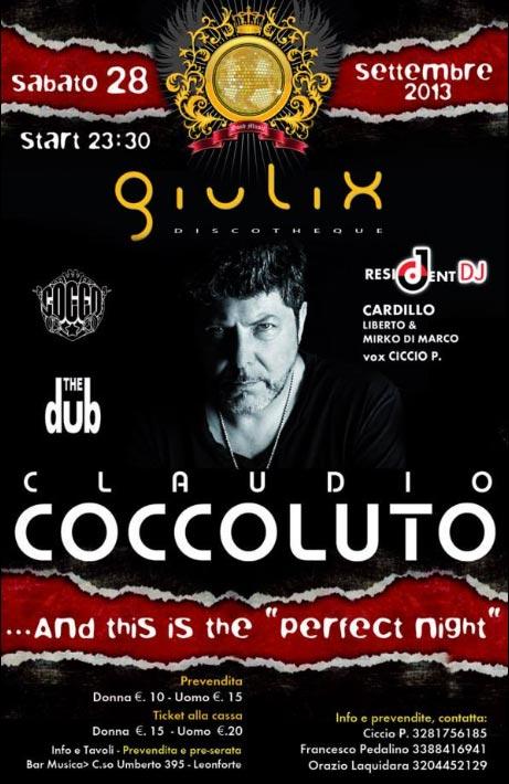 Apertura  stagione invernale con Claudio Coccoluto al Giulix Discotheque