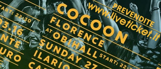 Cocoon at Florence al Teatro OBIHaLL di Firenze