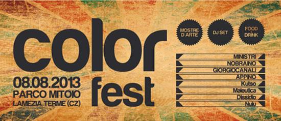 Color Fest 2013 al Parco Mitoio di Lamezia Terme