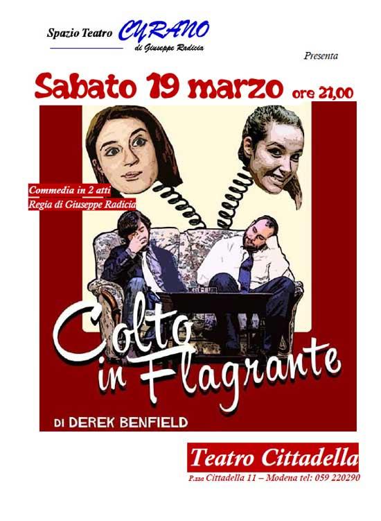 Colto in Flagrante al Teatro Cittadella di Modena
