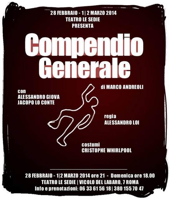 Compendio Generale al Teatro Le Sedie di Roma