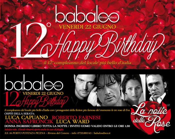 12° Happy Birthday Babaloo Disco Dinner