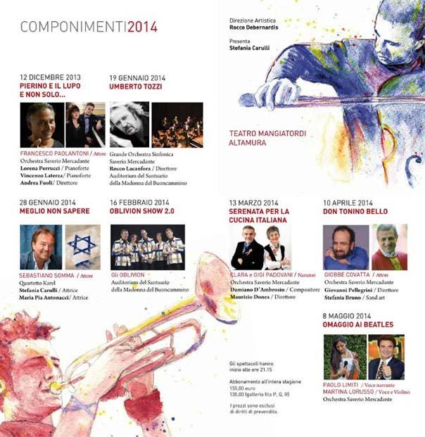 Componimenti 2014 - Stagione di Musica e Spettacolo ad Altamura