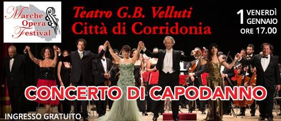 Concerto di Capodanno al Teatro Gian Battista Velluti di Corridonia