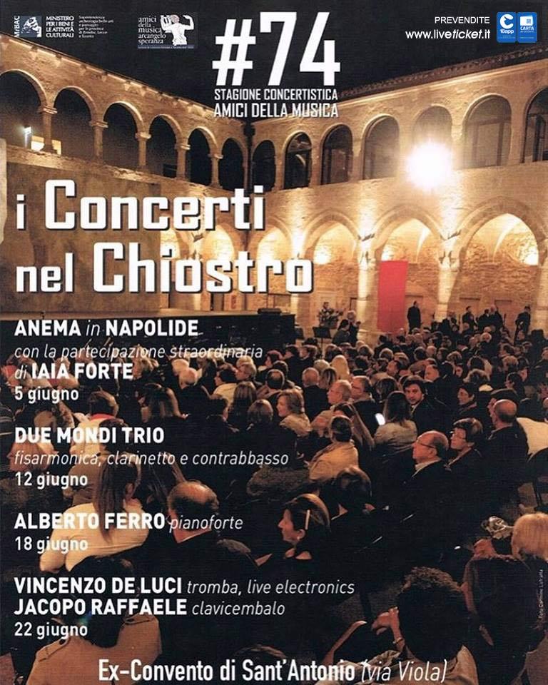 I Concerti del Chiostro all'ex Convento di Sant'Antonio a Taranto
