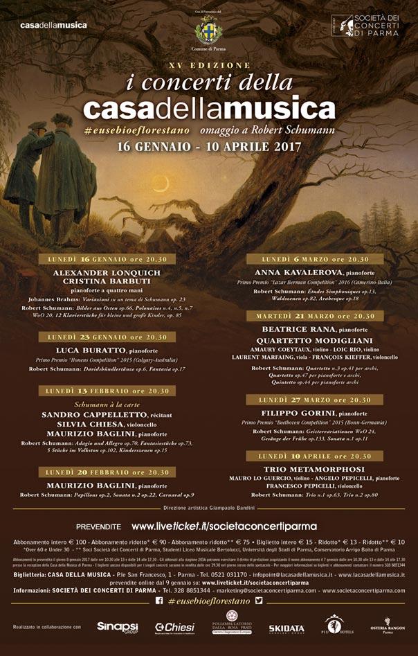 I concerti della Casa della Musica 2017 a Parma