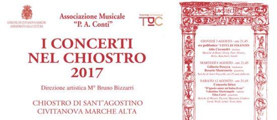 I concerti nel Chiostro 2017 al Chiostro Sant'Agostino a Civitanova Alta