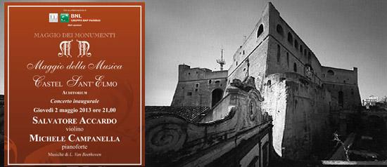 Concerto inaugurale Maggio della Musica a Castel Sant'Elmo