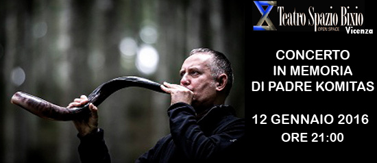 Concerto in memoria di Padre Komitas al Teatro Spazio Bixio di Vicenza