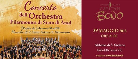 Concerto dell'Orchestra Filarmonica di Stato di Arad all'Abbazia di S. Stefano a Isola della Scala