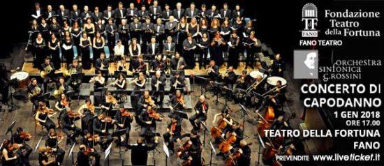 """Orchestra Sinfonica G. Rossini """"Concerto di Capodanno"""" al Teatro della Fortuna a Fano"""