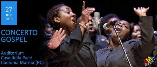 Concerto Gospel all'Auditorium Casa della Pace a Caulonia Marina