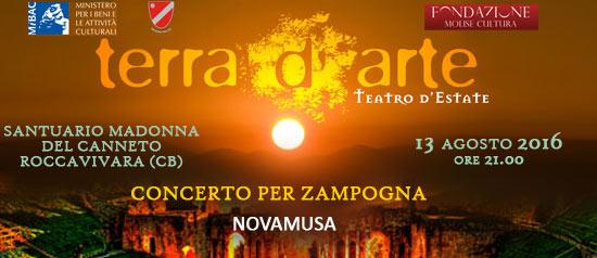 Concerto per zampogna a Terra d'Arte estate 2016 al Santuario Madonna del Canneto a Roccavivara