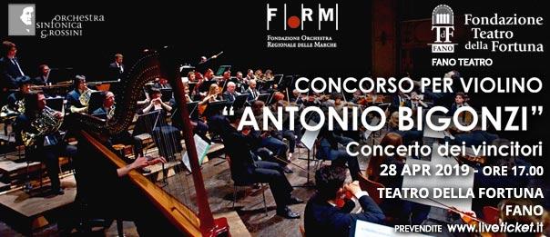 """Concorso per violino """"Antonio Bigonzi"""" al Teatro della Fortuna a Fano"""