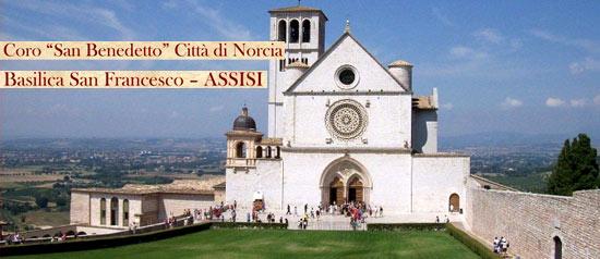 """Concerto del Coro """"San Benedetto"""" Città di Norcia ad Assisi"""