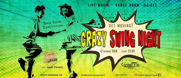Crazy Swing Night all'Officine Cantelmo a Lecce