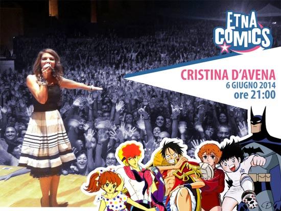 Cristina D'Avena in concerto all' Etna Comics 2014 a Catania